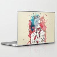 marie antoinette Laptop & iPad Skins featuring Marie Antoinette by Phie Hackett