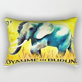 Elephant in the yellow field Rectangular Pillow