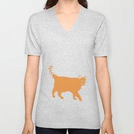 Orange Cat Unisex V-Neck