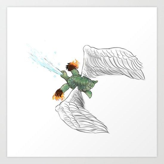 Battle Turtle Art Print