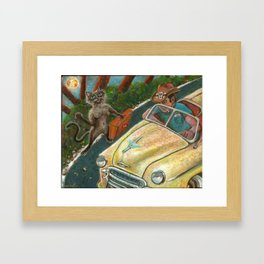Meena Hitchhikes Framed Art Print