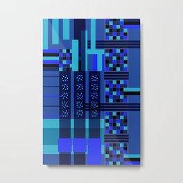 Movimiento de cuadritos azules · Glojag Metal Print