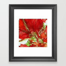 Exotic Red Flower Framed Art Print
