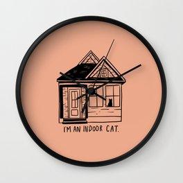 Indoor Cat (house) Wall Clock