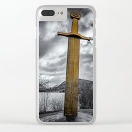 Llanberis Sword Snowdonia Clear iPhone Case