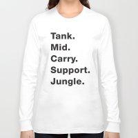 league Long Sleeve T-shirts featuring League Shirt by hana prints