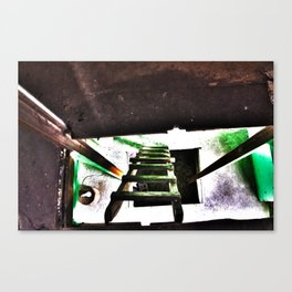 ladder going up or down Canvas Print