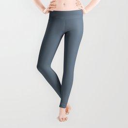 Slate Gray Solid Color Leggings