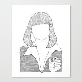 Pulp Fiction - Mia Wallace Canvas Print