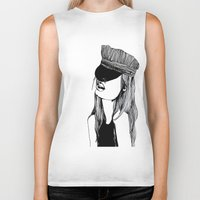 mad hatter Biker Tanks featuring MAD HATTER by ZOBOHO