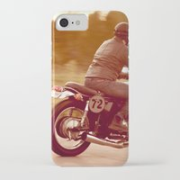 cafe racer iPhone & iPod Cases featuring Vintage cafe racer by gabyjalbert