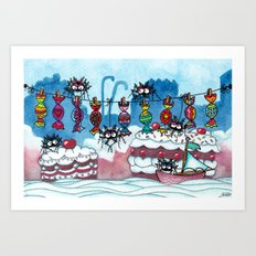 Welcome to Cake Country Art Print