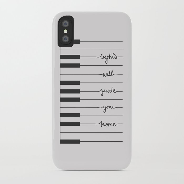 Piano Fix You lyrics iPhone Case by danieldevoy | Society6