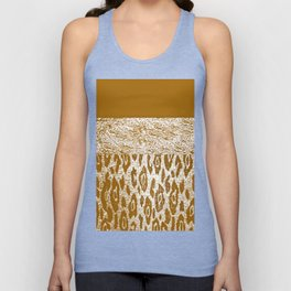 Animal Print Golden Cream Pattern Unisex Tank Top
