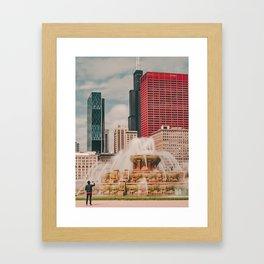 Fountain View Framed Art Print