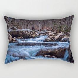 Creek in the Smoky Mountains Rectangular Pillow