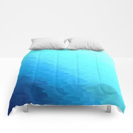 Turquoise Blue Texture Ombre Comforters