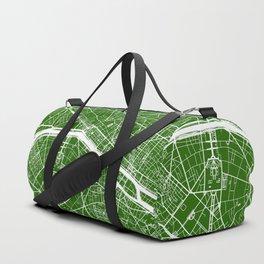 Green City Map of Paris, France Duffle Bag