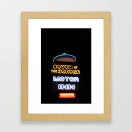 South of the Border: Motor Inn Framed Art Print
