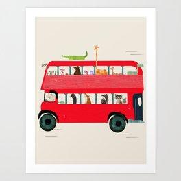The big red bus Art Print