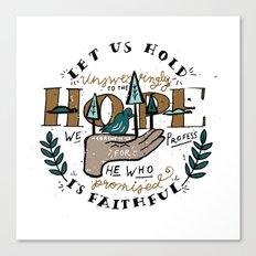 46/52: Hebrews 10:23 Canvas Print