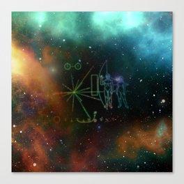 Nasa Pioneer Craft Alien Food Map Nebula Canvas Print