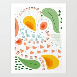 Greenery in april | Happy modern art | Apartment decor Art Print
