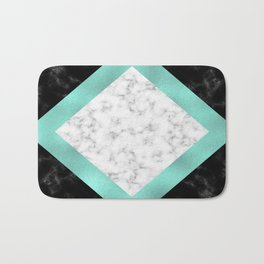 Mint marble Bath Mat