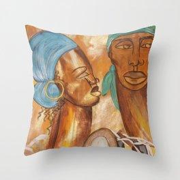 Etnik Drum in love vibes Throw Pillow