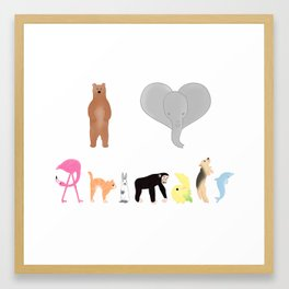 I love Animals colored  Framed Art Print