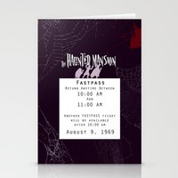 haunted mansion Stationery Cards featuring Haunted Mansion Fastpass by margybear