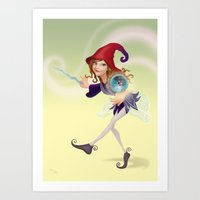 wizard Art Prints featuring Wizard by Joey