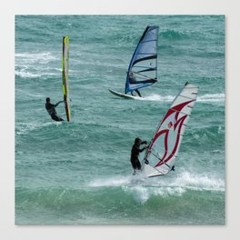 Windsurfing, Cottesloe Beach, Perth Canvas Print