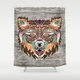 Grr! (Bohemian Bear) Shower Curtain