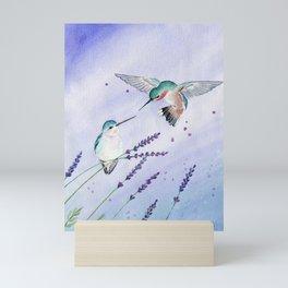 Hummingbird Romance Mini Art Print