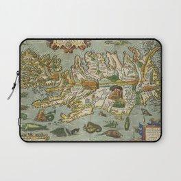 Iceland Map 1590 Laptop Sleeve