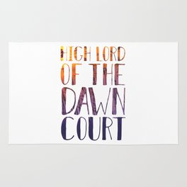 High Lady of the Dawn Court Rug