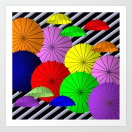 do you like umbrellas? Art Print