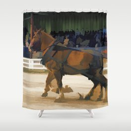 Pure Horsepower - Horse Pulling Event Shower Curtain