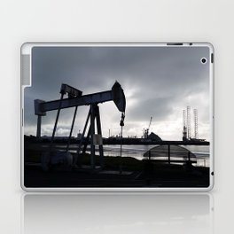 Oil Beam Pump New Plymouth Habour Laptop & iPad Skin