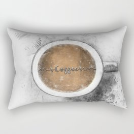 Coffee Heartbeat Rectangular Pillow