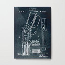 1894 - Magazine gun patent art Metal Print