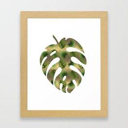 Tropical Leaves Gold Great Gatsby Framed Art Print