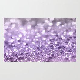 Purple Lavender Glitter #1 #shiny #decor #art #society6 Rug