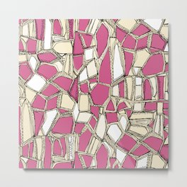BROKEN POP pink Metal Print