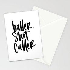 Baller, Shot Caller Stationery Cards