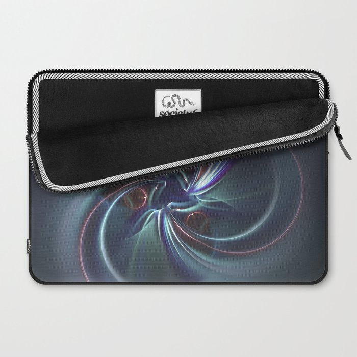 Moons Fractal in Cool Tones Laptop Sleeve