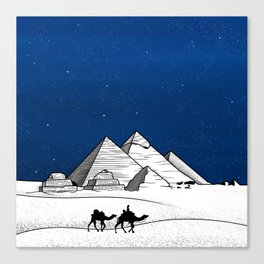 The pyramids of Giza Canvas Print