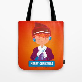 "Mikel AlfsToys say: ""Merry Christmas""  Tote Bag"