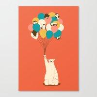 penguin Canvas Prints featuring Penguin Bouquet by Jay Fleck